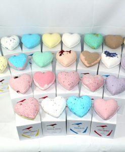 Reduced Plastic Bath Bomb Hearts 150g